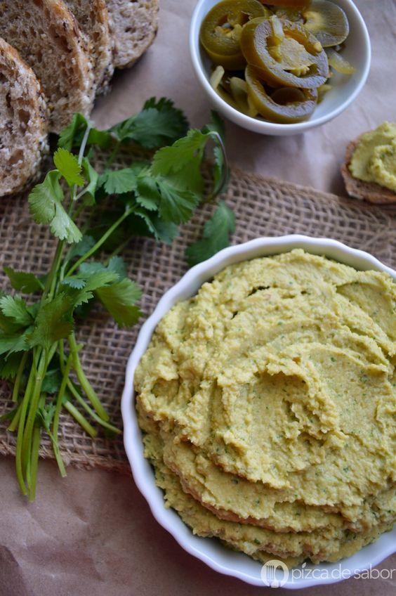 Aprende a cocinar un delicioso hummus de jalapeño con cilantro, una versión…