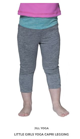 Little Girls Yoga Capri Legging www.jillyoga.com