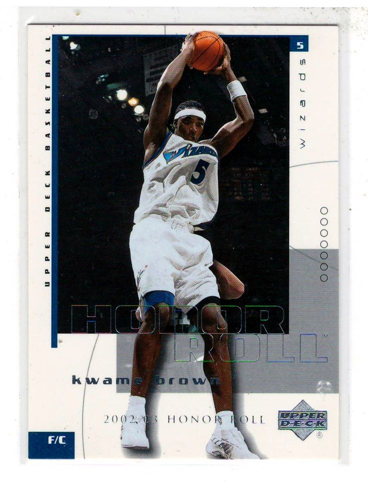 Sports Cards Basketball - 2003 UD (2002-03 Honor Roll) Kwame Brown
