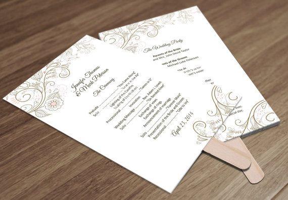 church fans template - best 25 wedding church programs ideas on pinterest diy