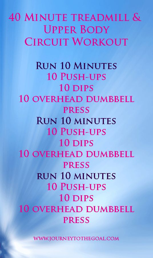 40 Minute Treadmill Circuit Workout - keep it interesting on the treadmill with this new rountine.