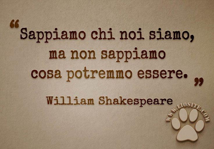 Sappiamo chi noi siamo, ma non sappiamo cosa potremmo essere. William Shakespeare #Shakespeare, #liosite, #citazioniItaliane, #frasibelle, #ItalianQuotes, #Sensodellavita, #perledisaggezza, #perledacondividere, #GraphTag, #ImmaginiParlanti, #citazionifotografiche, #graphicquotes, #graphquotes, #fotocitazioni,