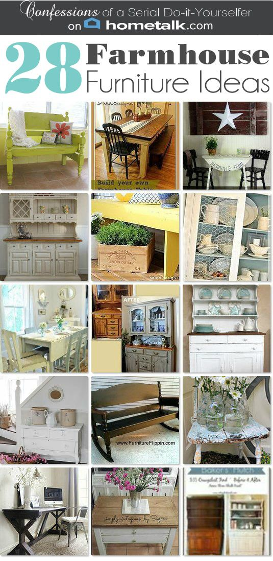 DIY 28 New Fabulous Vintage Farmhouse Furniture Makeovers For Your Home ! I want to make them All !