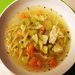1,614 reviews, made over 2k times!!  Quick and Easy Chicken Noodle Soup - Allrecipes.com
