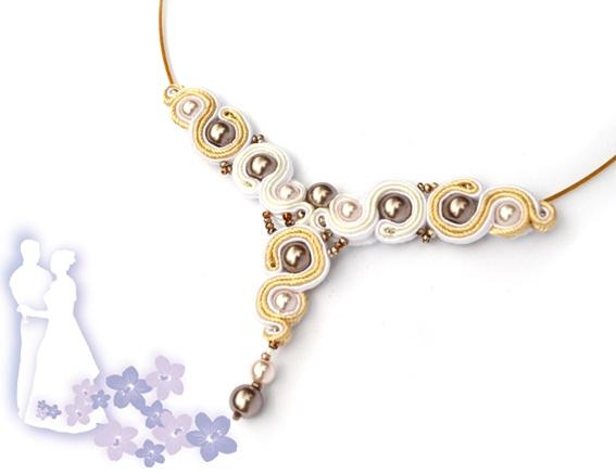 Sutasz-Anka: Wedding Veil - necklace http://www.soutage.com/2012/06/wedding-veil-naszyjnik.html