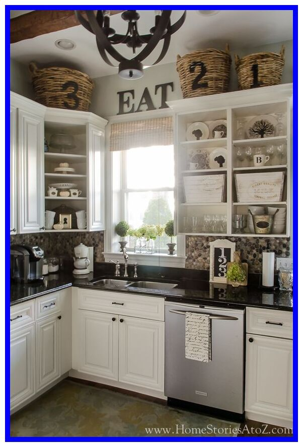 64 Reference Of Kitchen Counter Corner Decorating Ideas Above Kitchen Cabinets Kitchen Cabinets Decor Decorating Above Kitchen Cabinets