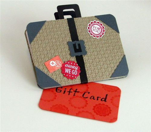 Scrapbook & Cards Today Blog: Stampin' Up! Inspiration Saturday - Suitcase Gift Card Holder - Julie Oliver