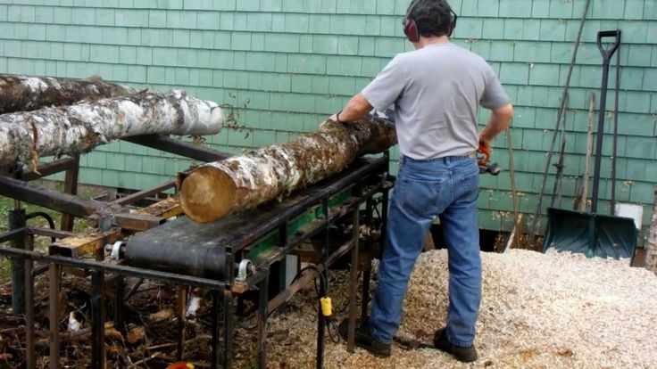 Homemade Firewood Processor with chainsaw