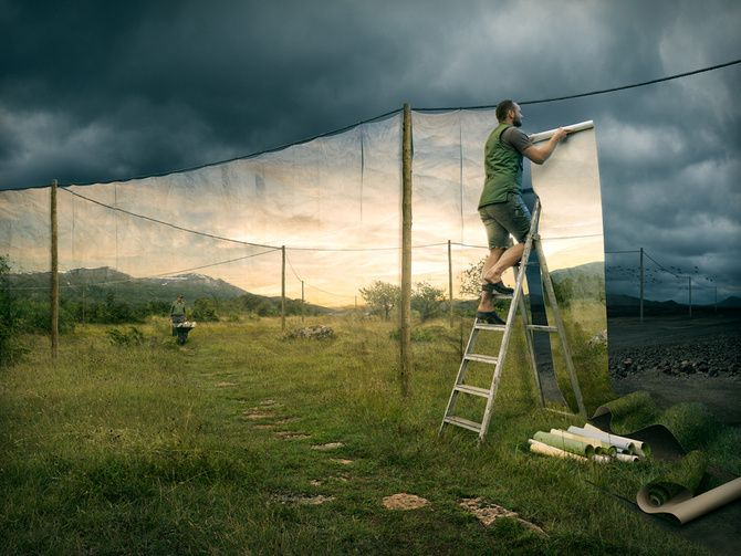 Erik Johansson is a surrealist photographer. All the images in the photograph are different photos put together to make one single image. He gets his inspiration through everything. Things that don't fit together normally he puts together to make a surreal photograph. This is the kind of photography is one of my favorites to look at because it is like a fantasy world.