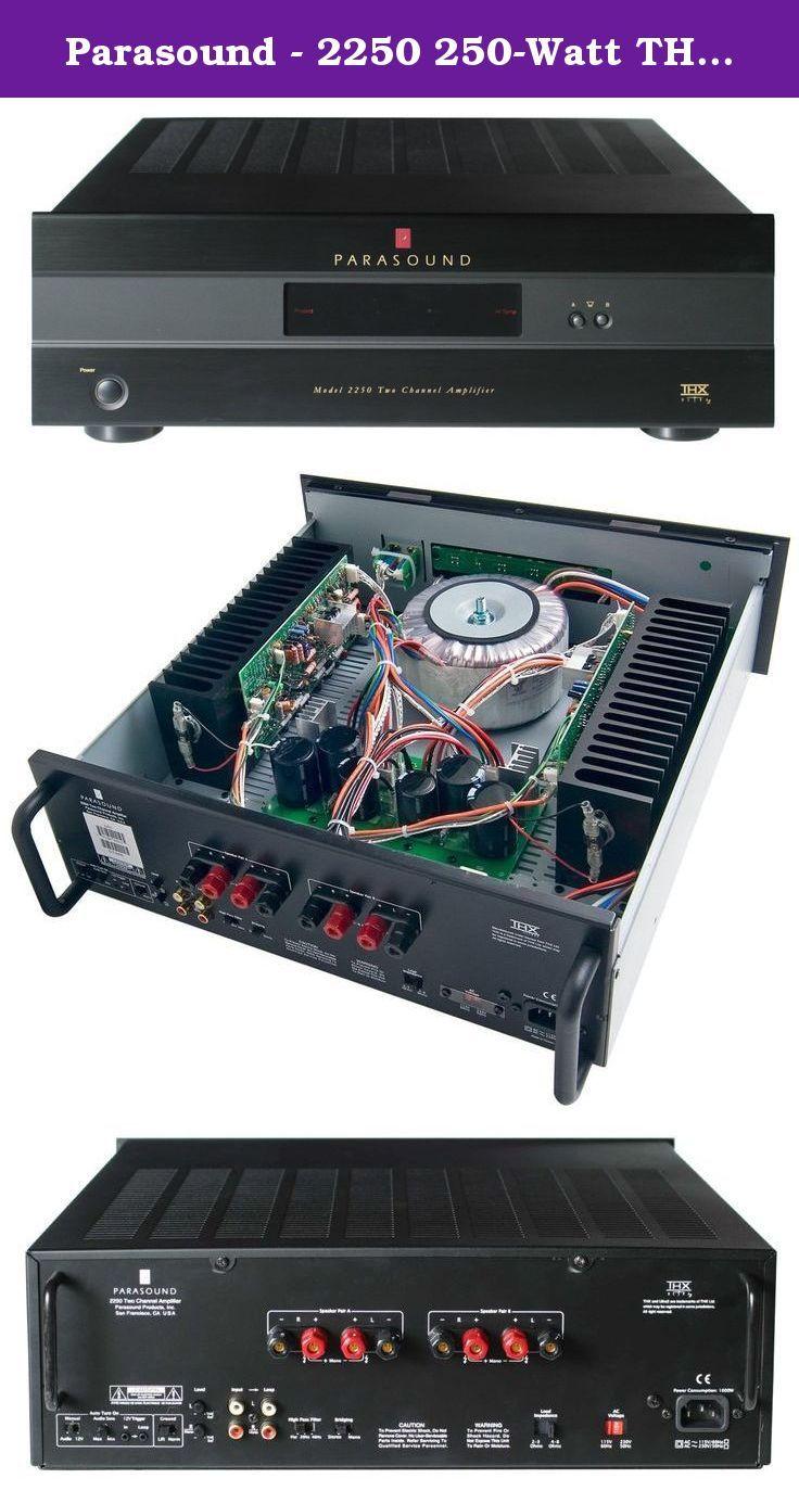 Parasound 2250 250Watt THX Ultra2 TwoChannel Amplifier