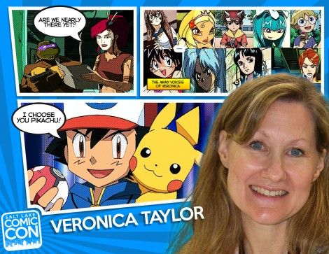 Welcome our next Salt Lake Comic Con 2014 guest - voice actress Veronica Taylor! She's best known for her dubbing work in English-language adaptations of Japanese anime, in particular for voicing Ash Ketchum in the English dub of the Pokémon for the first 8 seasons. Other roles include Delia Ketchum (Ash's mother) and May in the Pokémon series, April O'Neil from Teenage Mutant Ninja Turtles and Amelia Wil Tesla Seyruun in the Slayers TV series, among many others!