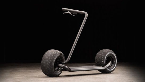Stator Folding Electric Scooter Pairs Plump Wheels And Wiry Frame