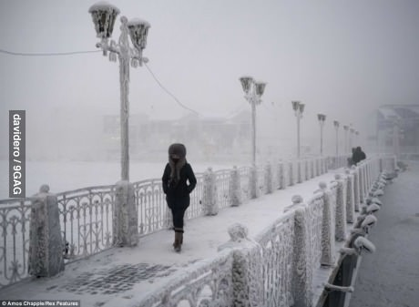 Oymyakon, coldest village on Earth, -71C