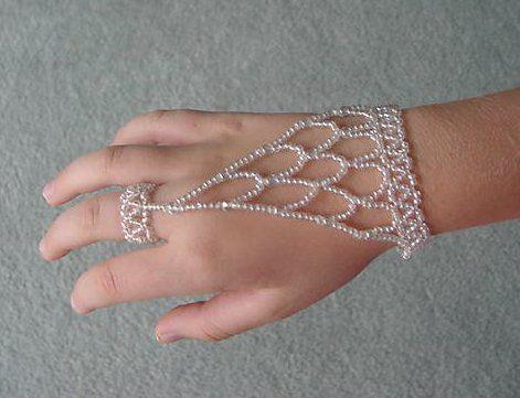 Beaded Slave Bracelet Instructions | bracelet I made with the stretch cord.