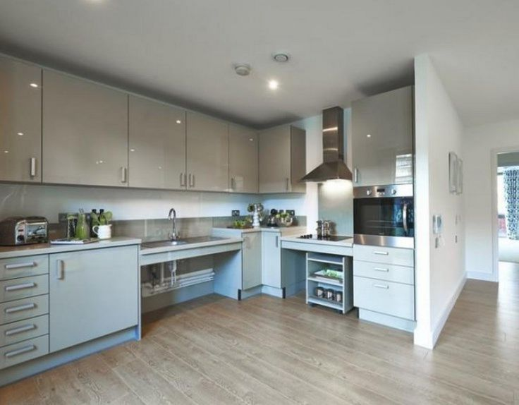 A great idea for a layout of a kitchen for wheelchair for Kitchen design for wheelchair user