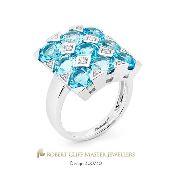 #Topaz and #Diamonds! You can't resist this beautiful nine square cut Topaz and Diamond #ring. Make a statement this Spring! For her, now only $2,699. --- #specialmoment #somethingnew #somethingblue #gemstones #springtime #spring2017 #springfashion #jewels #gems #gemstone #colouredstones #design #jewellerydesign #fashionaccessories #jewelleryaddict #instastyle #fashionstyle #igstyle #sydney #jeweller #designer #castletowers #jewellerydesigner