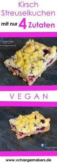 Veganer Streuselkuchen mit nur 4 Zutaten in 35 Minuten !!! Super lecker und so einfach!