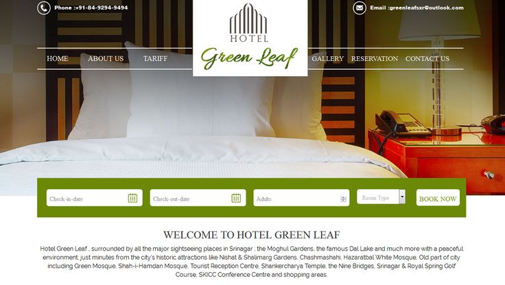 It was a pleasure to work with Hotel Green Leaf, and #design & #develop their website. Do have a look! http://goo.gl/MPXz0n