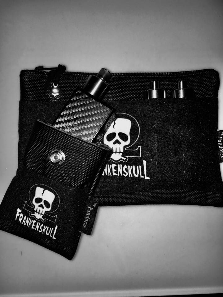 Black Crypt and black belt pouch Frankenskull logo