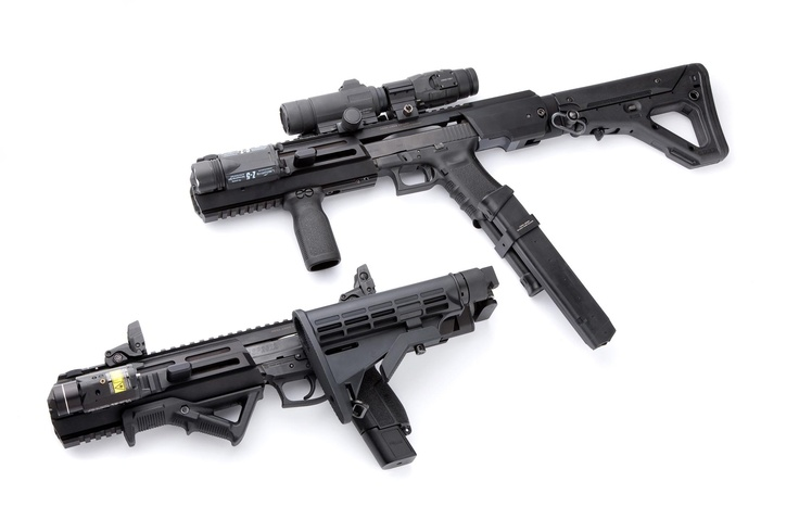Glock Inc. Pistol Conversion     Available For:     - Glock 17 / 22 / 31 (Gen.3 / Gen.4)  - Glock 19 / 23 / 32 (Gen.3)  - Glock 34 / 35 (Gen.3)  - Glock 20 / 21 (Gen.3)