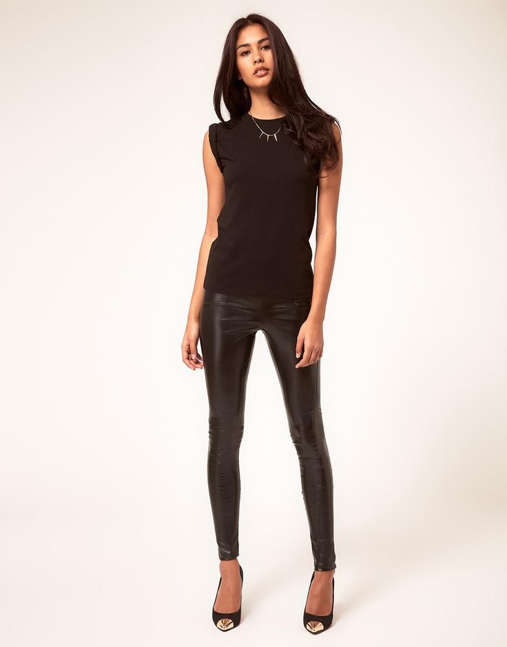 Badass chic: Asos 30 00, Style, Pleather Skinny, Look Skinny, Faux Leather Pants, Black Skinny Pants, Asos Leather, Skinny Trousers, Wear