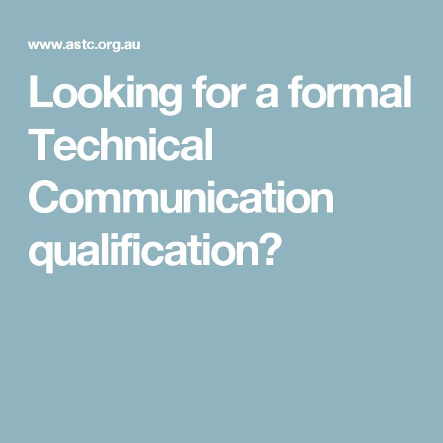 Looking for a formal Technical Communication qualification?