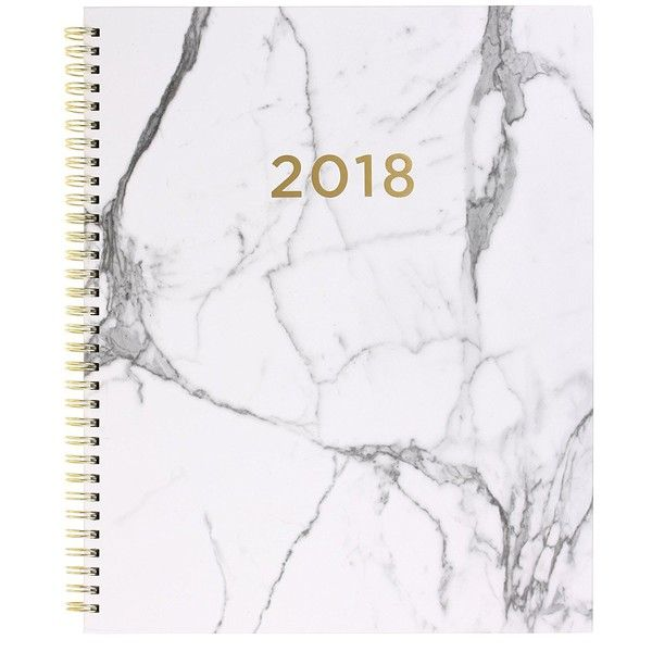 Amazon.com : 2017-2018 Eccolo Large Desk Size Agenda Planner, 18... ($23) ❤ liked on Polyvore featuring home, home decor and stationery