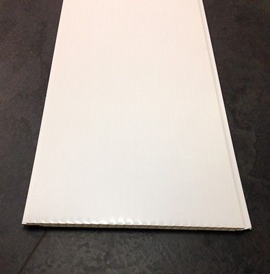 10 Gloss White Bathroom PVC Cladding Kitchen Ceiling Panels Shower Wet Wall 5mm