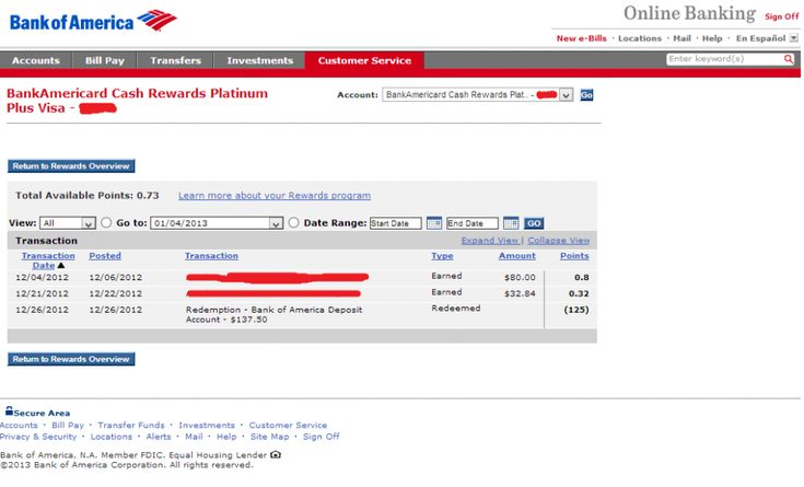 Bank of america transaction history the reason why