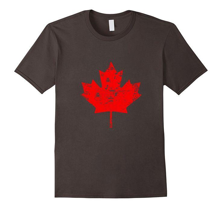 Canada Day T-Shirt. Canada Maple Flag Distressed T-Shirt: Amazon.co.uk: Clothing