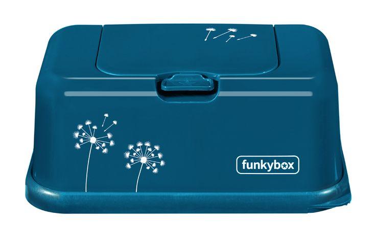 New Funkybox Petrol Dandelion. Limited Edition! beautiful wipes box