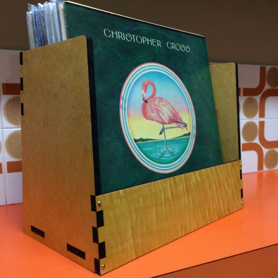 Record Box Decor Exotic wood Vinyl storage #vinyl #record #album #lp #indianrosewood #recordbin #recordcrate #recordbox #decor