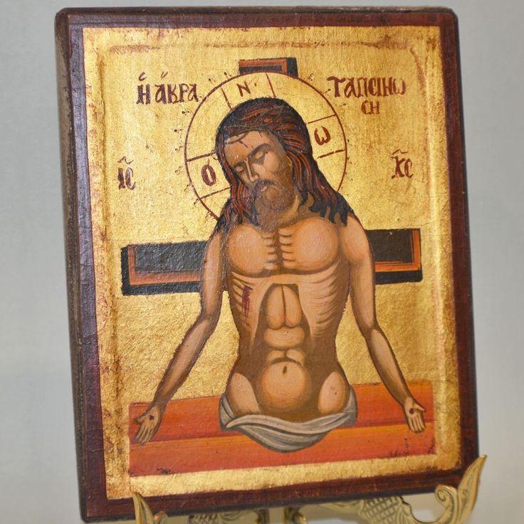 Orthodox Icon Handpainted Greek Byzantine Jesus Christ