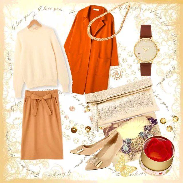 スプリングタイプの中では黄みの色素が強めの方は、暖かみのあるコーディネートがおすすめ。優しい色合いで親しみやすい雰囲気を活かしつつ、少しコントラストをつけると華やかさも出ます( 'ω')و ̑#パーソナルカラースプリング #パーソナルカラーspring #ファッション #コーディネート