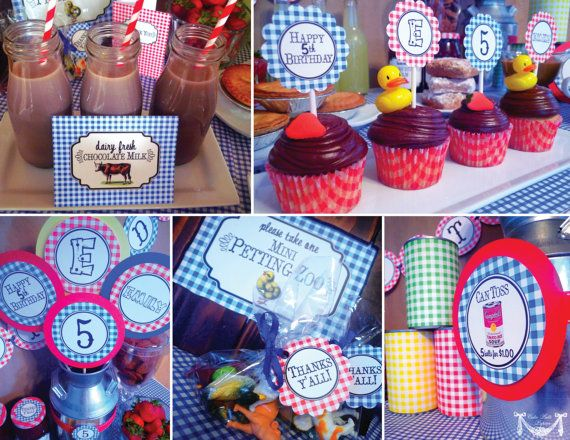 County Fair Party, State Fair Party, Country Fair Party - PRINTABLE PARTY COLLECTION - Cutie Putti Paperie. $50.00, via Etsy.