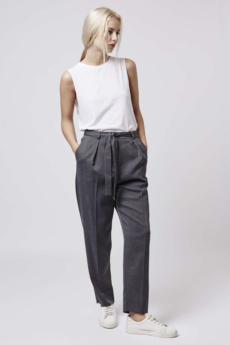 Photo 5 of TALL Flannel Belted Peg Trousers