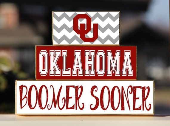 University of Oklahoma Boomer Sooner Trio by BlendedCreationsInc