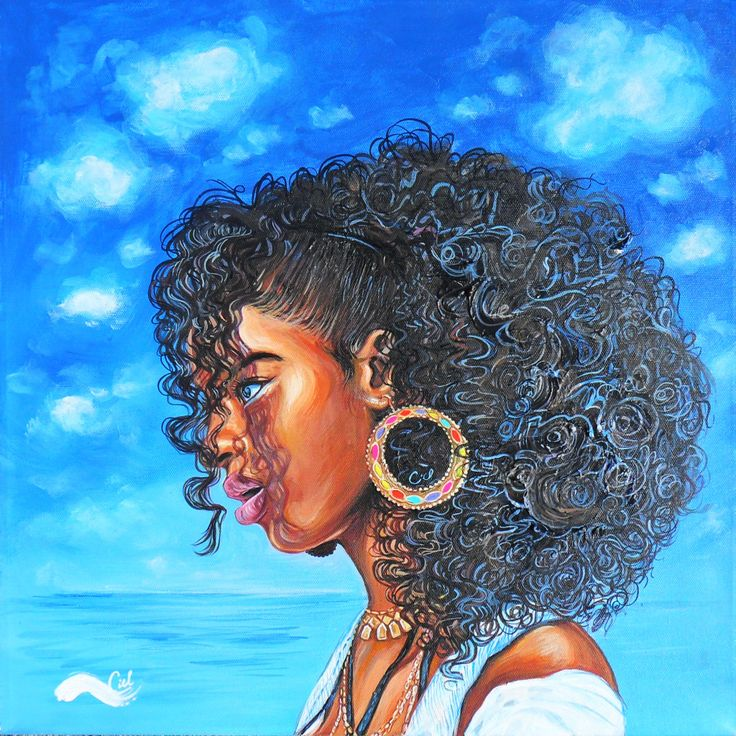 "Black Women Art! — ""Her name is Sky"" By Camille Lauren."