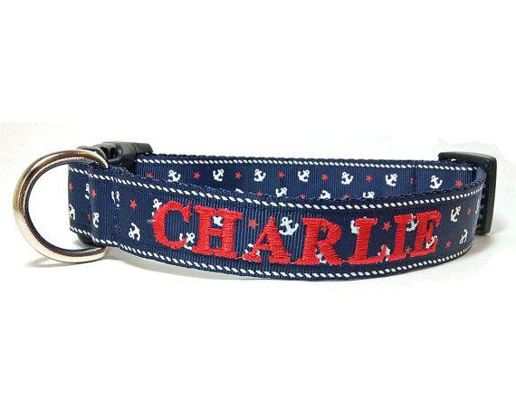 Personalized Nautical Dog Collar