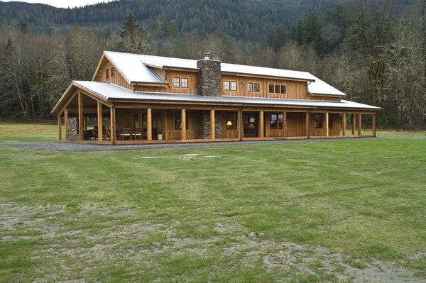 pole framed house | gorgeous post frame home by Spane Buildings Inc.