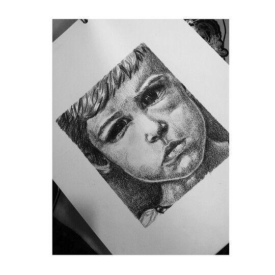 #drawing #charcoal #boy #blackandwhite #ximenabohorquez