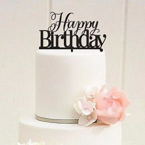 - Features: - Happy Birthday Cake Top Decoration. - Simple and Elegant. - Perfect for the top tier of Birthday Cake. - Perfect for Parties, Banquets and other formal or personal gatherings. - The Beau
