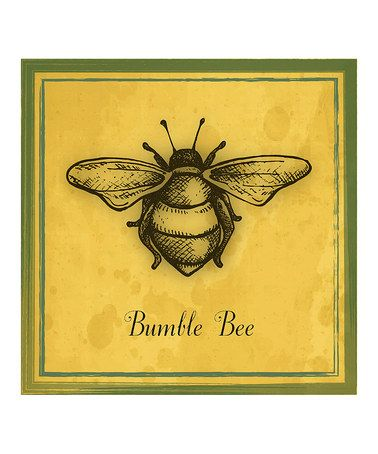 Love this 'Bumble Bee' Print by Heart of the Home on #zulily! #zulilyfinds