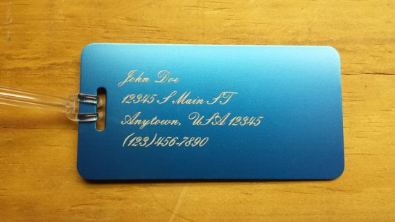 Blue Large Luggage Tag Personalized Luggage Tag by JakesCustoms, $10.00