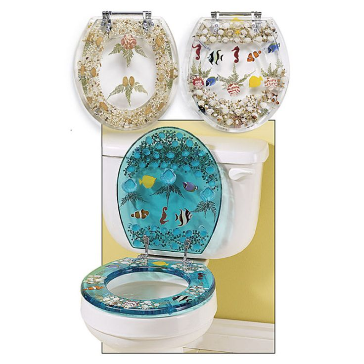 Clear seashell toilet seat $69.95