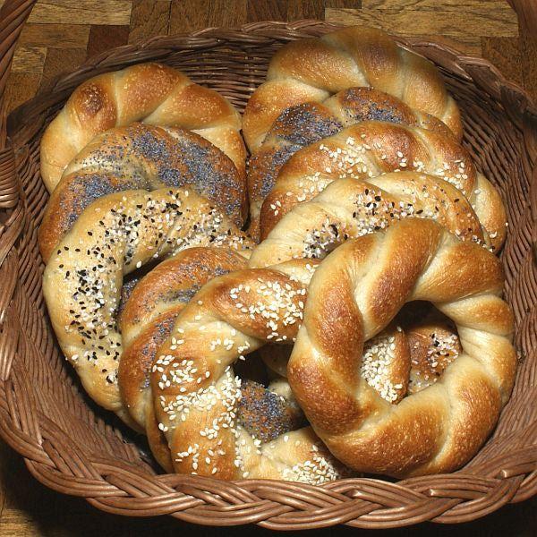 Jewish Krakover Bagels Recipe - Polish Obwarzanki Krakowski - Krakover Beyglach