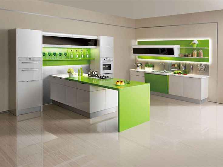 Cucina verde moderna 08