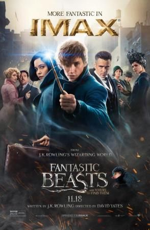 2016 Fantastic Beasts and Where to Find Them  The adventures of writer Newt Scamander in New York's secret community of witches and wizards seventy years before Harry Potter reads his book in school. Stars: Eddie Redmayne, Katherine Waterston, Alison Sudol