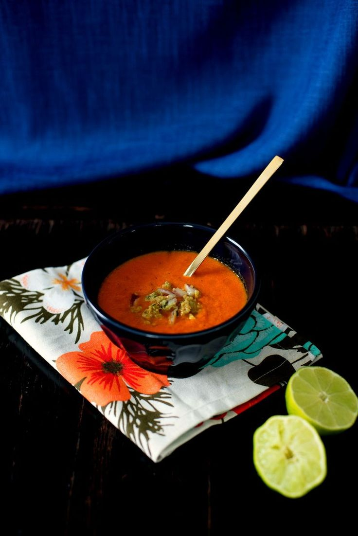 Roasted Red-Pepper Soup With Quinoa Salsa Recipes — Dishmaps