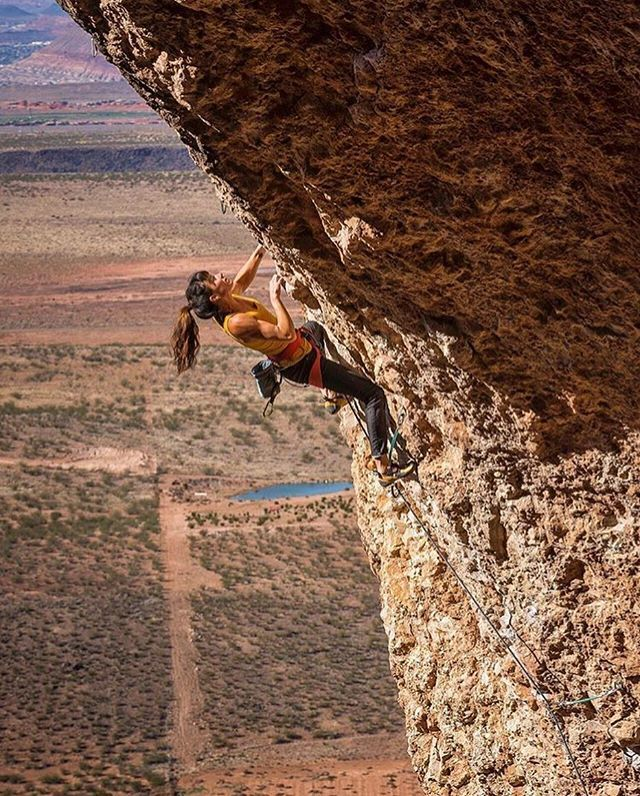 @ltjian climbing Cliffdweller 5.13a in the Hurricave near St. George Utah!  @jefflewisphotography